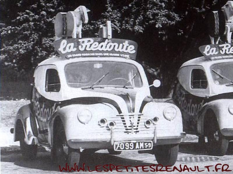 Les petites renault renault 4 cv commerciale la redoute 1955 - La redoute france magasin ...