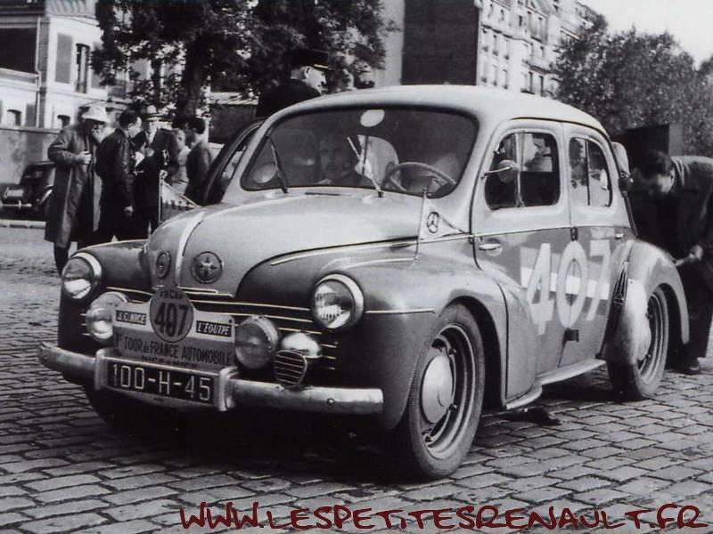 Les Petites Renault Renault 4cv Tour De France Auto 1951