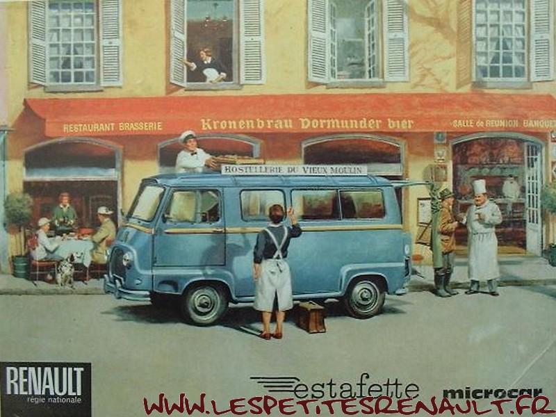Les petites renault estafette vitr e minibus 1973 for Interieur estafette